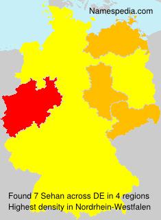 Surname Sehan in Germany