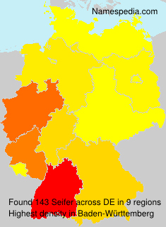 Familiennamen Seifer - Germany