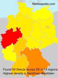 Surname Sekula in Germany
