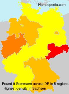 Surname Semmann in Germany