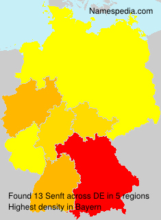Surname Senft in Germany