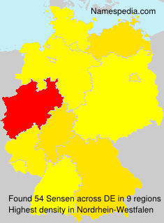 Surname Sensen in Germany