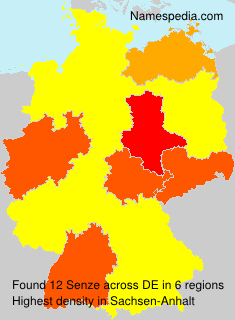 Surname Senze in Germany
