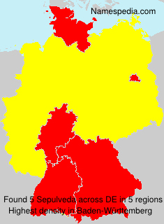 Surname Sepulveda in Germany
