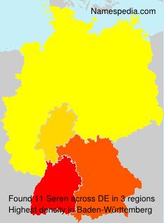 Familiennamen Seren - Germany