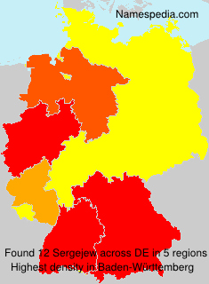 Familiennamen Sergejew - Germany