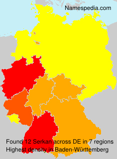 Familiennamen Serkan - Germany