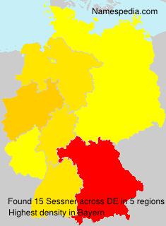 Familiennamen Sessner - Germany