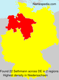 Surname Sethmann in Germany