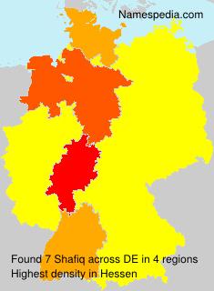 Familiennamen Shafiq - Germany