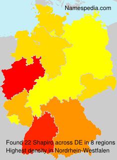 Surname Shapiro in Germany
