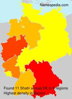 Surname Shatri in Germany