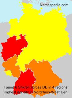 Familiennamen Shkreli - Germany