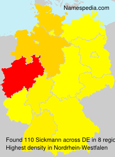 Familiennamen Sickmann - Germany