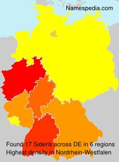 Surname Sideris in Germany