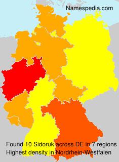 Surname Sidoruk in Germany