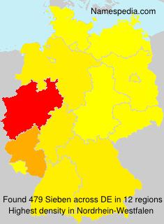 Familiennamen Sieben - Germany