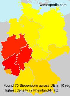 Surname Siebenborn in Germany