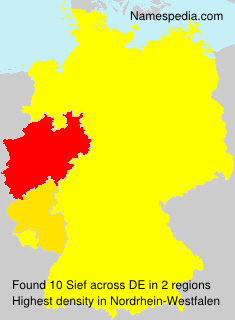 Familiennamen Sief - Germany