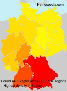 Surname Siegler in Germany