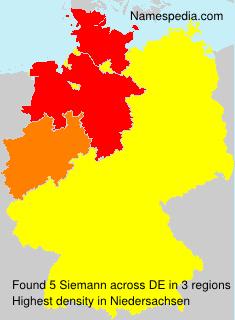 Surname Siemann in Germany