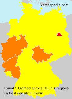 Surname Sigfried in Germany