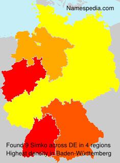 Familiennamen Simko - Germany