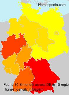 Surname Simonetti in Germany