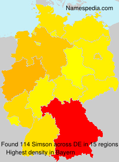 Surname Simson in Germany