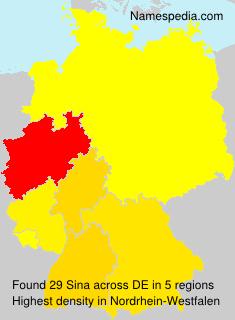 Surname Sina in Germany