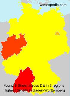 Surname Sinesi in Germany