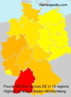 Familiennamen Sinn - Germany