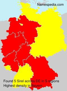 Surname Sirel in Germany