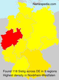 Familiennamen Sistig - Germany