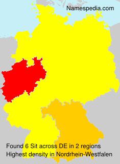 Surname Sit in Germany