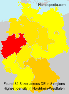 Familiennamen Sitzer - Germany