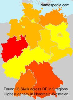 Surname Siwik in Germany