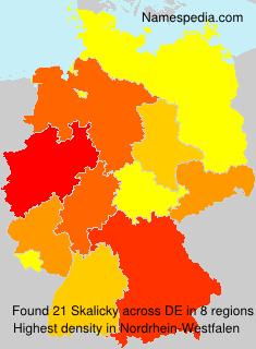 Surname Skalicky in Germany