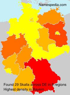 Surname Skalla in Germany