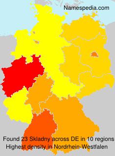 Surname Skladny in Germany