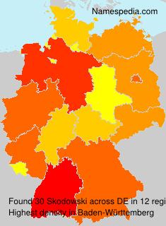 Surname Skodowski in Germany