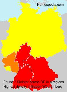 Familiennamen Skrinjar - Germany