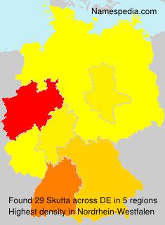 Surname Skutta in Germany