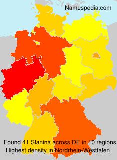 Surname Slanina in Germany