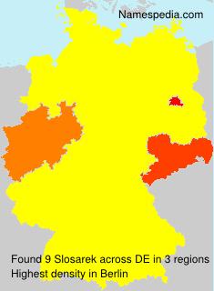 Familiennamen Slosarek - Germany