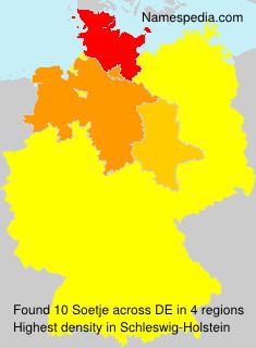 Familiennamen Soetje - Germany