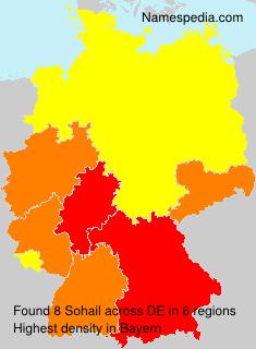 Surname Sohail in Germany