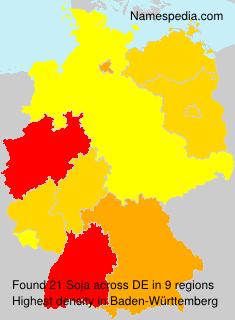 Surname Soja in Germany