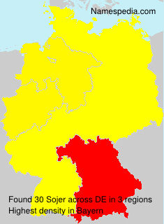 Familiennamen Sojer - Germany