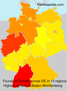 Surname Sonder in Germany